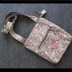 """Handbags - Hipster floral purse with initial """"P"""""""